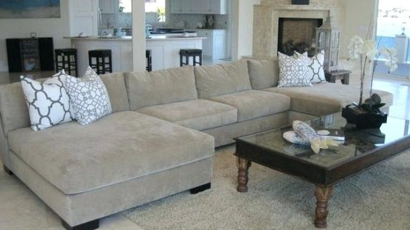 Best And Newest Amusing Oversized Chaise Lounge Sofa Living Rooms Double With Regard To Double Chaise Sofas (View 3 of 15)