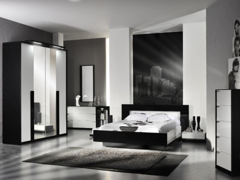 Best And Newest Black And White Wardrobes Set With Regard To High Gloss Furniture (View 2 of 15)