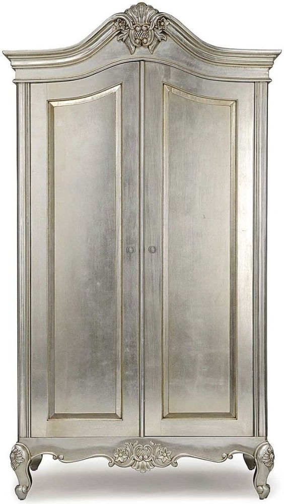 Best And Newest Buy Willis And Gambier Cristal Silver Leaf 2 Door Wardrobe Online In Willis And Gambier Wardrobes (View 2 of 15)