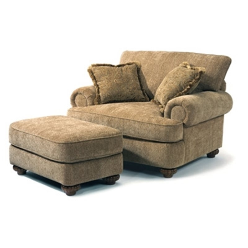 Best And Newest Chairs With Ottoman With Regard To Patterson Fabric Chair & Ottoman – Eaton Hometowne Furniture (View 1 of 10)