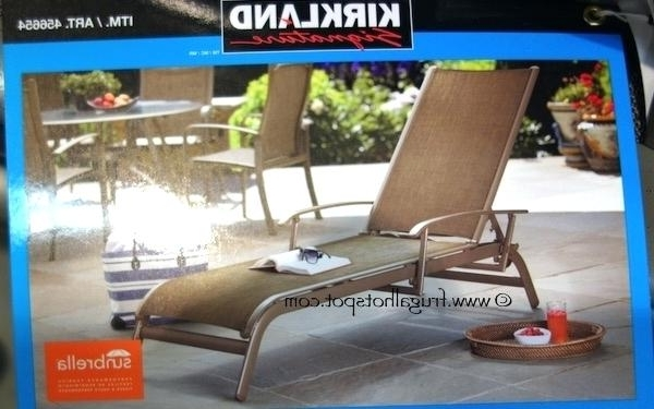 Best And Newest Chaise Lounge Sling Chairs Throughout Impressing Sling Back Chaise Lounge Chairs Outdoor Sunbrella (View 3 of 15)