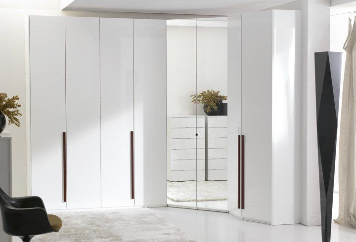 Best And Newest Corner Wardrobe / Contemporary / Wooden / With Hinged Door With Mirrored Corner Wardrobes (View 12 of 15)