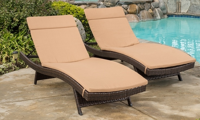 Best And Newest Cushion Pads For Outdoor Chaise Lounge Chairs (2 Pack) (View 3 of 15)