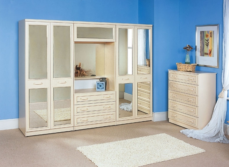 Best And Newest Discount Wardrobes Pertaining To Cambridge Over Bed Wardrobe Fitments – £ (View 7 of 15)