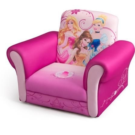 Best And Newest Disney Princess Deluxe Upholstered Chair – Walmart (View 2 of 10)