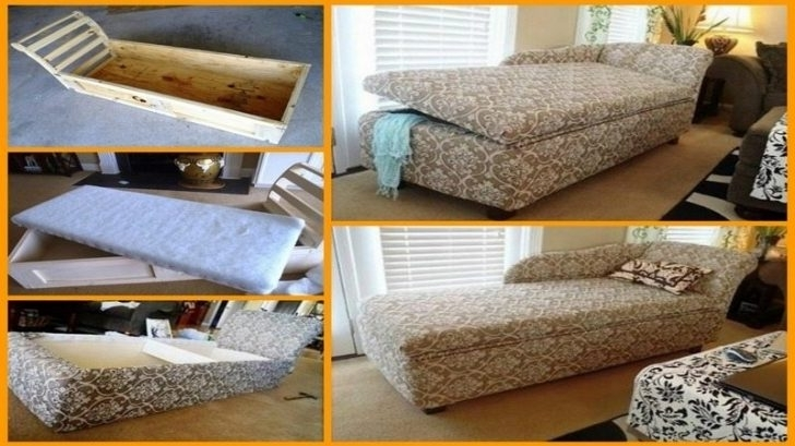 Best And Newest Diy Chaise Lounges Pertaining To Incredible Diy Chaise Lounge – Badotcom (View 3 of 15)
