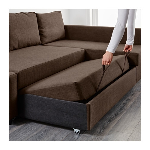 Best And Newest Friheten Corner Sofa Bed With Storage Skiftebo Brown – Ikea Regarding Ikea Corner Sofas With Storage (View 4 of 10)