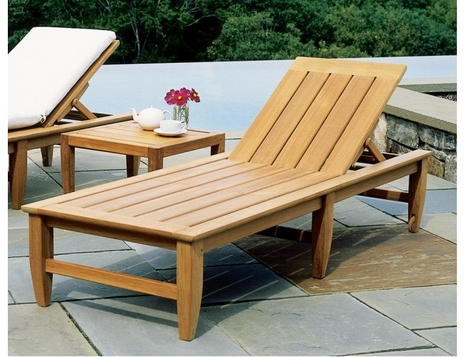 Best And Newest Hardwood Chaise Lounge Chairs Regarding Teak Chaise Lounge Design — Teak Furnitures : Teak Chaise Lounge Ideas (View 3 of 15)