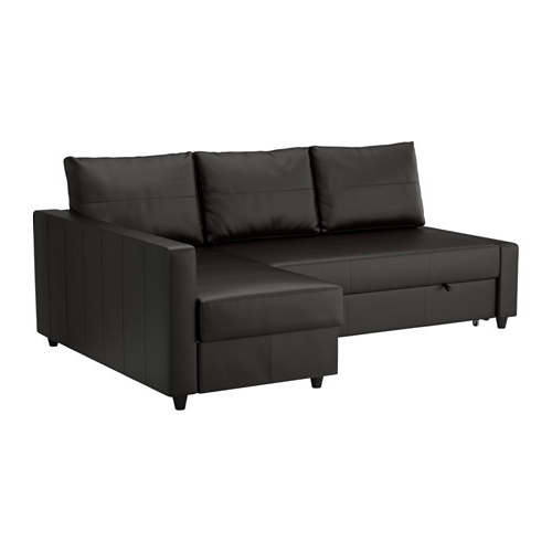 Best And Newest Ikea Sofa Beds With Chaise With Regard To Friheten Sleeper Sectional,3 Seat W/storage – Bomstad Black – Ikea (View 3 of 15)