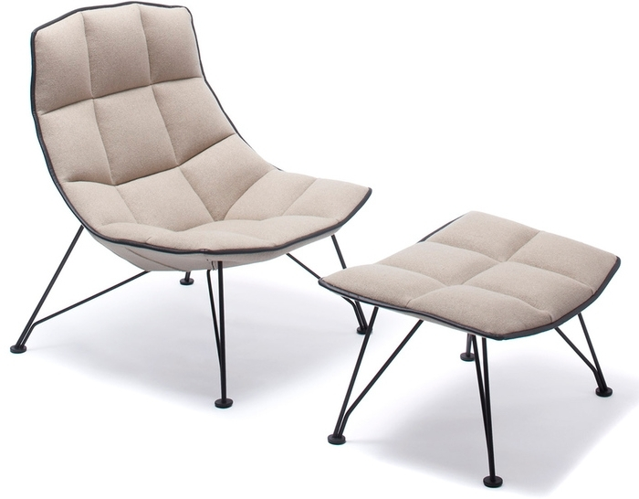 Best And Newest Jehs+Laub Wire Lounge Chair & Ottoman – Hivemodern For Chaise Lounge Chairs With Ottoman (View 3 of 15)