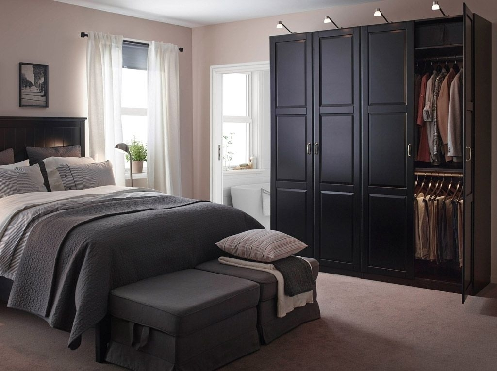 Best And Newest Large Black Wardrobes With Regard To Ikea Bedroom Furniture Wardrobes With Good Amazing Schreiber (View 2 of 15)