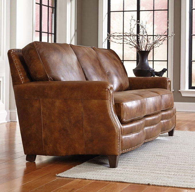 Best And Newest Learn About Leather With Olinde's Furniture's Leather Buying Guide Within Aniline Leather Sofas (View 5 of 10)
