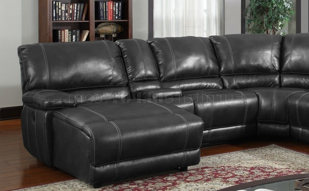 Best And Newest Leather Motion Sectional Sofas For 6pc Motion Sectional Sofa Black Bonded Leatherglobal (View 6 of 10)