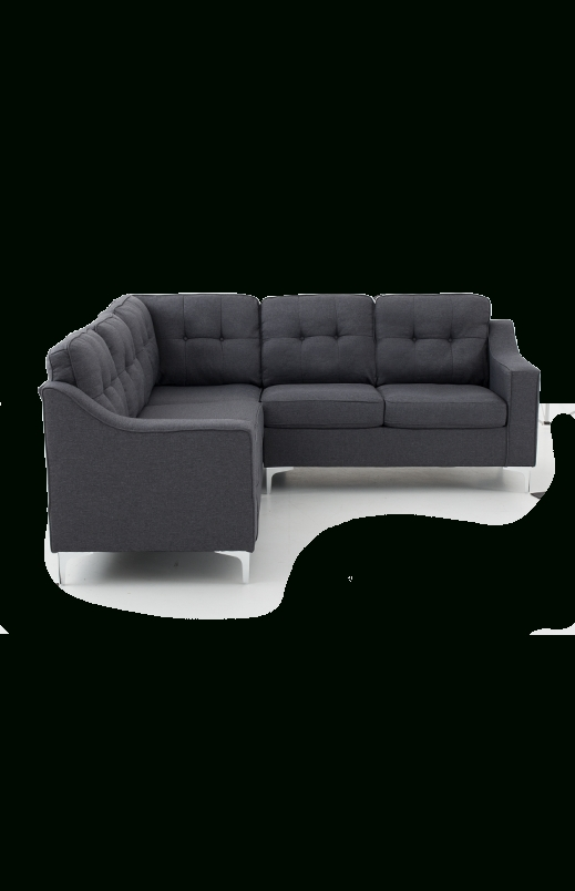 Best And Newest Linen Sectional Sofa – Grey (View 1 of 10)