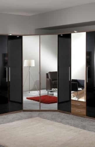 Best And Newest Mirrored Corner Wardrobes Pertaining To Mirrored 2 Door Corner Wardrobe (View 10 of 15)
