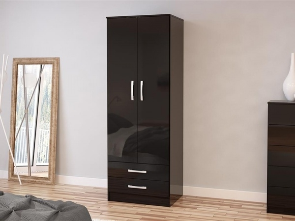 Best And Newest Modern Black Wardrobes (View 2 of 15)