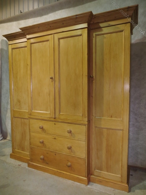 Best And Newest Pine Breakfront Wardrobe – Antiques Atlas Throughout Antique Breakfront Wardrobes (View 10 of 15)