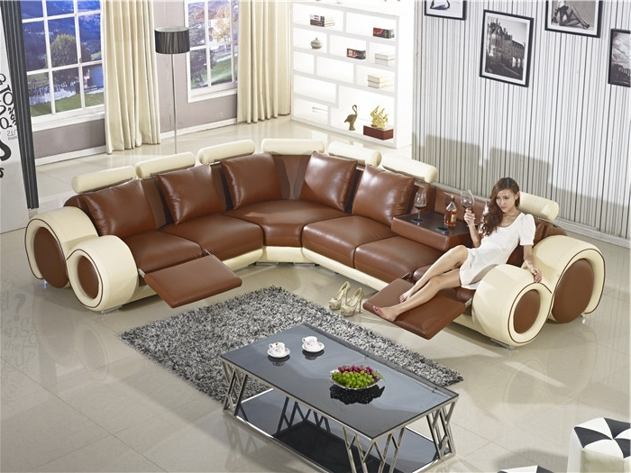 Best And Newest Recliner Sofa New Design Large Size L Shaped Sofa Set Italian With Large Sofa Chairs (View 1 of 10)