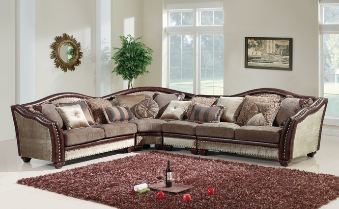 Best And Newest Sectional Sofa With Nailhead Trim For 4 Pc Valentina Ii Designs 6 Intended For Sectional Sofas With Nailhead Trim (View 5 of 10)