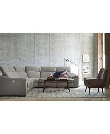 Best And Newest Sectional Sofas With Power Recliners With Regard To Kelsee 5 Pc Fabric Sectional Sofa With 3 Power Recliners, Only At (View 1 of 10)