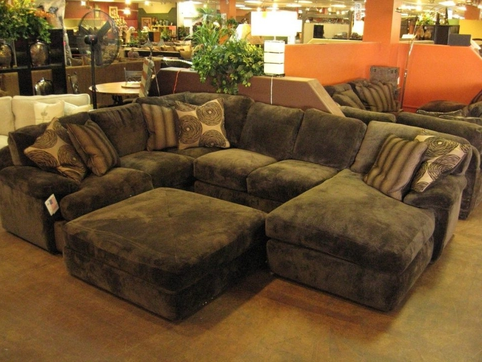 Best And Newest Sofa : Beautiful Large Sectional Sofa With Chaise L Shaped Cream Intended For Sectionals With Chaise And Ottoman (View 10 of 10)