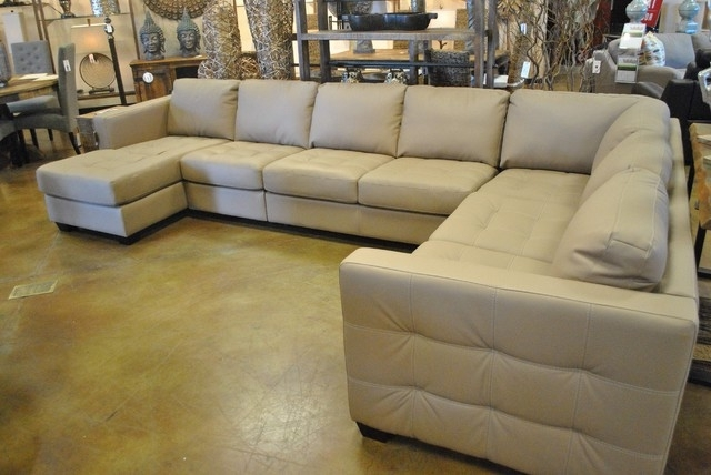 Best And Newest Sofa Beds Design: Glamorous Modern Large Leather Sectional Sofas With Large Sectional Sofas (View 3 of 10)
