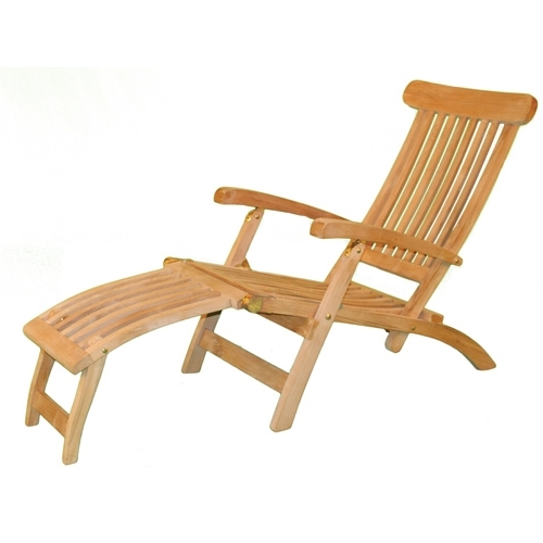 Best And Newest Teak Chaise Lounges With Regard To Teak Chaise Lounge Chair In Outdoor Lounges (View 3 of 15)