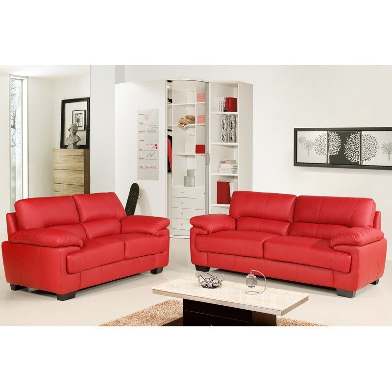Best Red Leather Sofas Italian Top Grain Leather Sofa 56 Leather Within Popular Red Leather Couches And Loveseats (View 2 of 10)