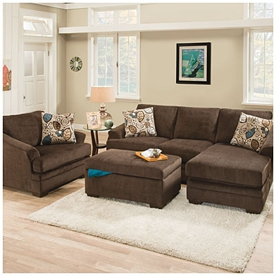 Big Lots $550 Sunflower Brown Sofa With Reversible Chaise (View 1 of 10)
