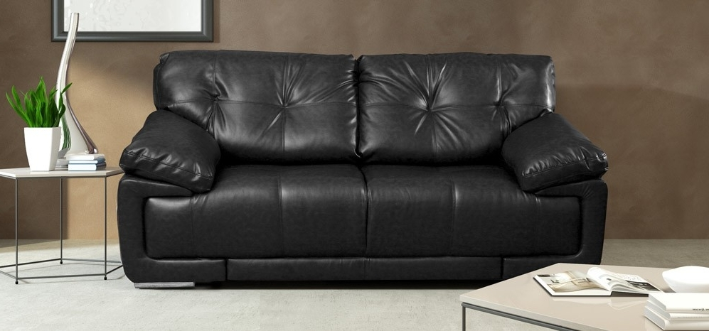 Black 2 Seater Sofas Throughout Most Recent Maxim 2 Seater Black (View 2 of 10)