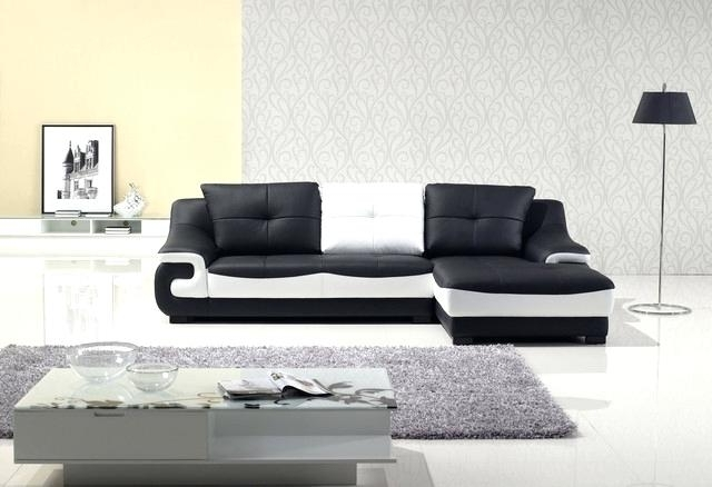 Black And White Leather Sofa Black And White Leather Sofa Set Pertaining To Latest Black And White Sofas (View 3 of 10)