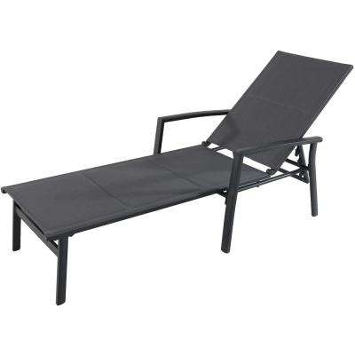 Black Chaise Lounge Outdoor Chairs Regarding Fashionable Hanover – Outdoor Chaise Lounges – Patio Chairs – The Home Depot (View 3 of 15)