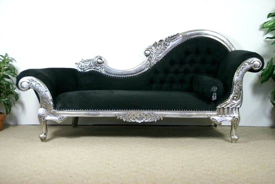 Black Chaise Lounges Throughout Favorite Chaise Lounge Victorian Image Of Black Chaise Lounge Model Antique (View 5 of 15)