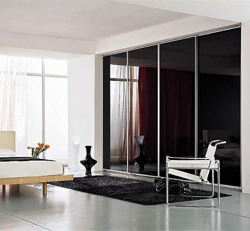 Black Glass Wardrobes Regarding Well Known Custom Fitted Sliding Wardrobesportner Furniture (View 3 of 15)