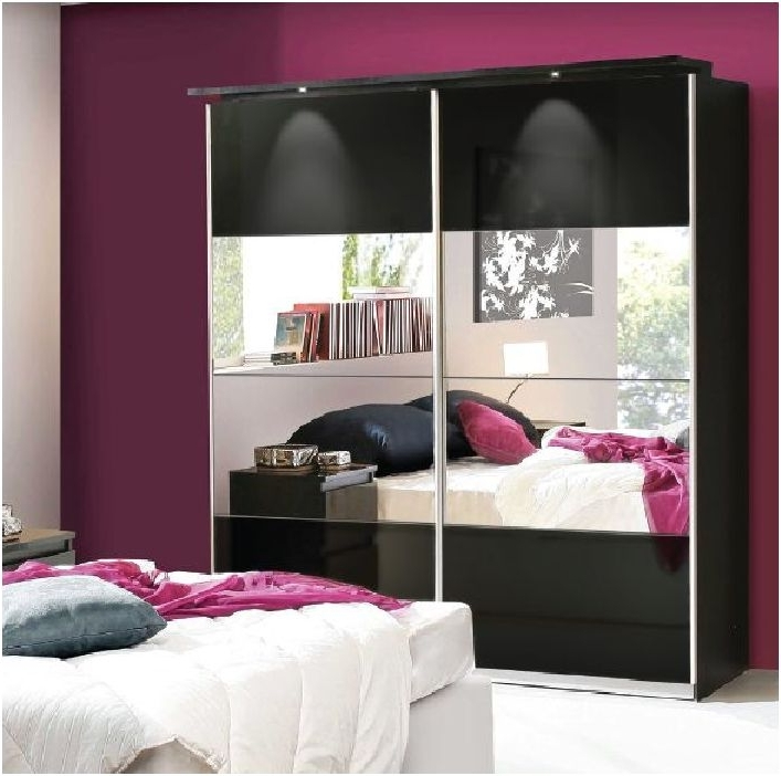 Black Gloss Mirror Wardrobes For Preferred Louise Black Gloss Mirrored Sliding Wardrobe Chls824E1 C88 – Amos (View 4 of 15)