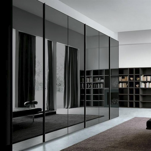 Black Gloss Wardrobes Regarding Well Liked Stylish Wardrobes – High Gloss Wardrobes Manufacturer From Delhi (View 4 of 15)