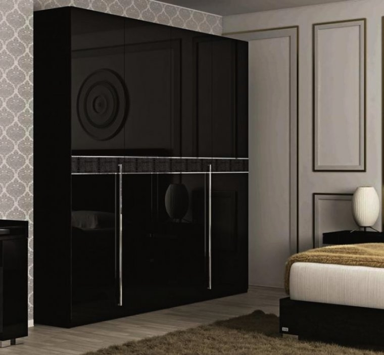 Black Gloss Wardrobes Throughout Popular View 5 Of 15