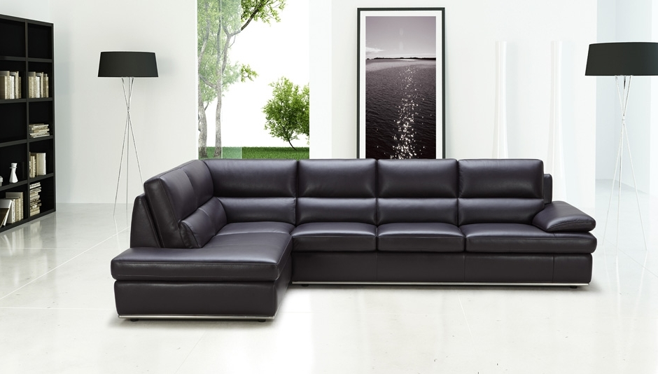 Black Leather Sectionals With Chaise Inside Preferred Sectional Sofa Design: Best Choice Sectional Sofa Leather Red (View 2 of 15)