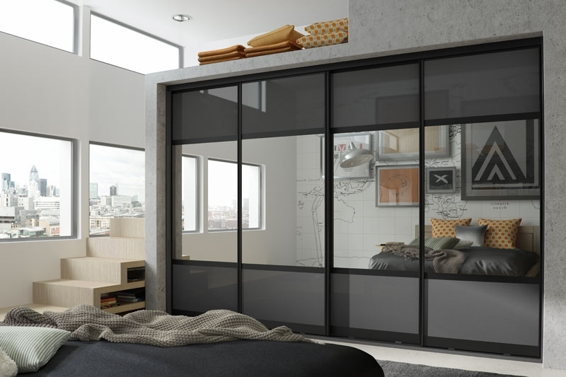 Black Shiny Wardrobes In Most Popular Glide Sliding Doors – Hpp (View 5 of 15)