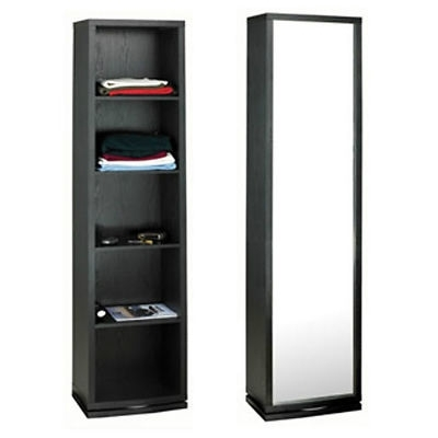Black Single Door Wardrobes For Best And Newest Mirror Design Ideas: Original Glass Single Wardrobe With Mirror (View 7 of 15)