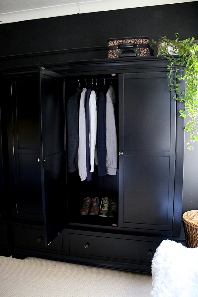 Black Wardrobes Pertaining To Newest Bedroom Wardrobes Reveal! – Swoon Worthy (View 2 of 15)