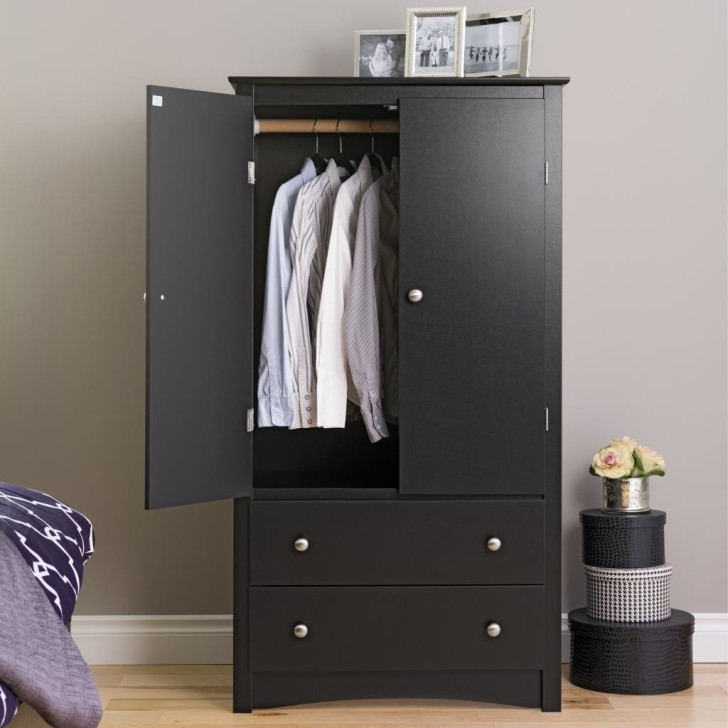 Black Wardrobes With Drawers With Regard To Most Recently Released Living Room What To Consider When Choosing Living Room Armoires (View 4 of 15)