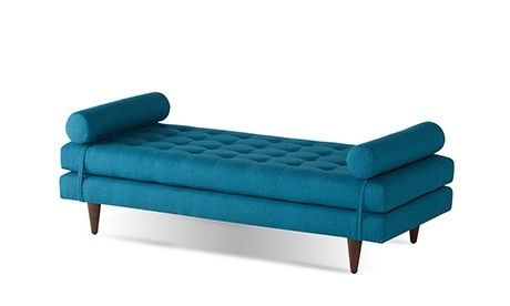 Blue Chaises Throughout Newest Mid Century Modern Chaises And Daybeds (View 3 of 15)