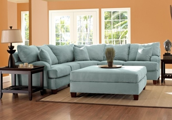 Blue Sectional Sofas For 2018 Sectional Sofa Design: Light Blue Sectional Sofa Best Design Light (View 2 of 10)