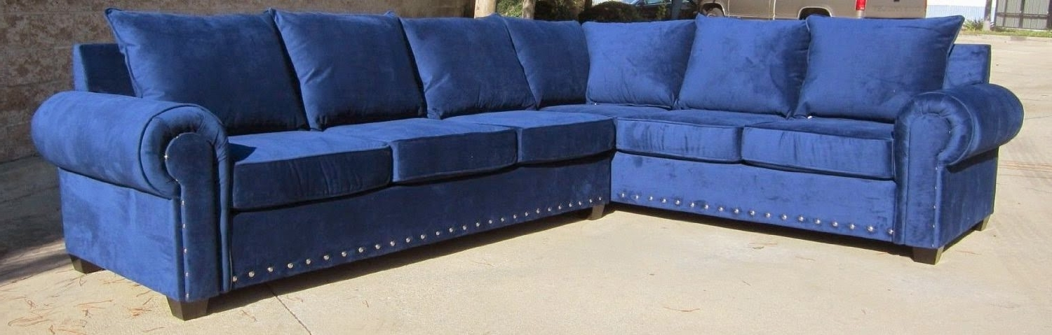 Blue Sectional Sofas Pertaining To Newest Blue Couch: Blue Sectional Couch (View 4 of 10)