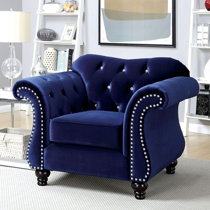 Blue Sofa Chairs Throughout Well Liked Jolanda Blue Sofa – Shop For Affordable Home Furniture, Decor (View 5 of 10)
