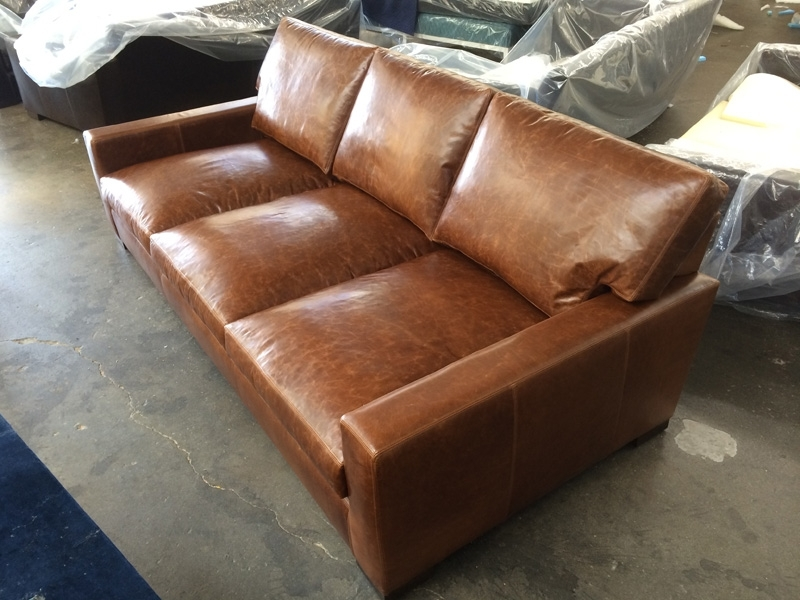 Braxton Sofas Regarding Widely Used Braxton Leather Sofa – Custom Dimensions – 98″ X 48″ (View 5 of 10)