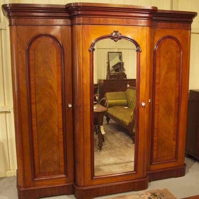 Breakfront Wardrobes Intended For Most Popular 19th Century Cedar Breakfront Wardrobe (View 11 of 15)