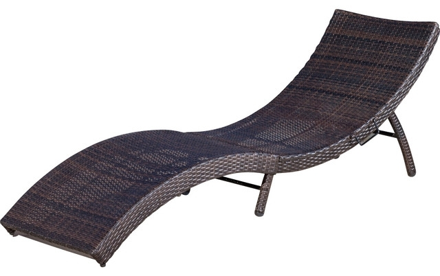 Brilliant Folding Lounge Chair Outdoor With Maureen Outdoor Wicker For Latest Cheap Folding Chaise Lounge Chairs For Outdoor (View 1 of 15)
