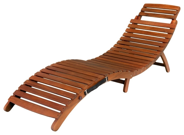 Brilliant Wood Chaise Lounge Lisbon Folding Chaise Lounge Chair Intended For Most Popular Wood Chaise Lounge Chairs (View 4 of 15)